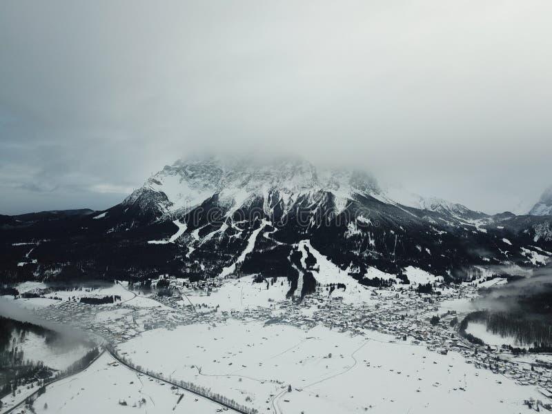 Belle vue près de Lermoos, Autriche image libre de droits