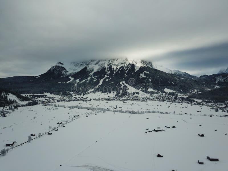 Belle vue près de Lermoos, Autriche photo libre de droits