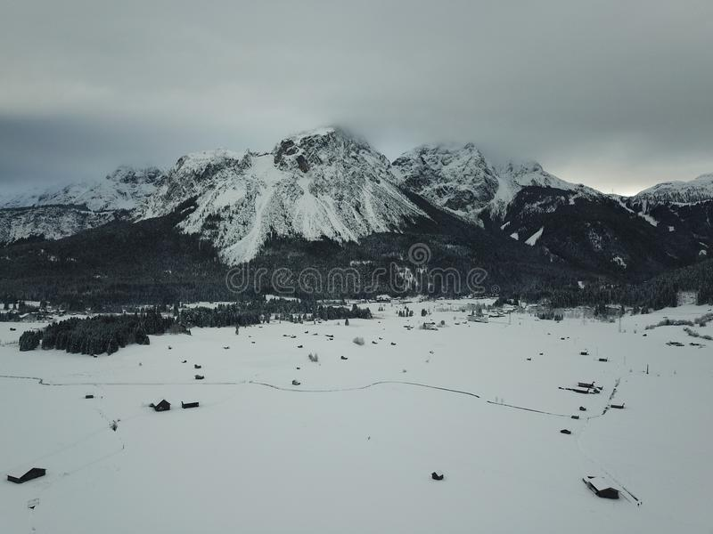 Belle vue près de Lermoos, Autriche images stock