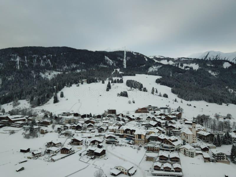 Belle vue près de Lermoos, Autriche photos libres de droits