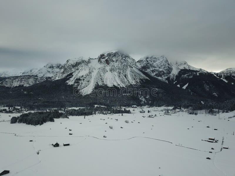 Belle vue près de Lermoos, Autriche photographie stock libre de droits