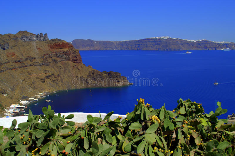 Belle vue scénique d'île grecque photographie stock