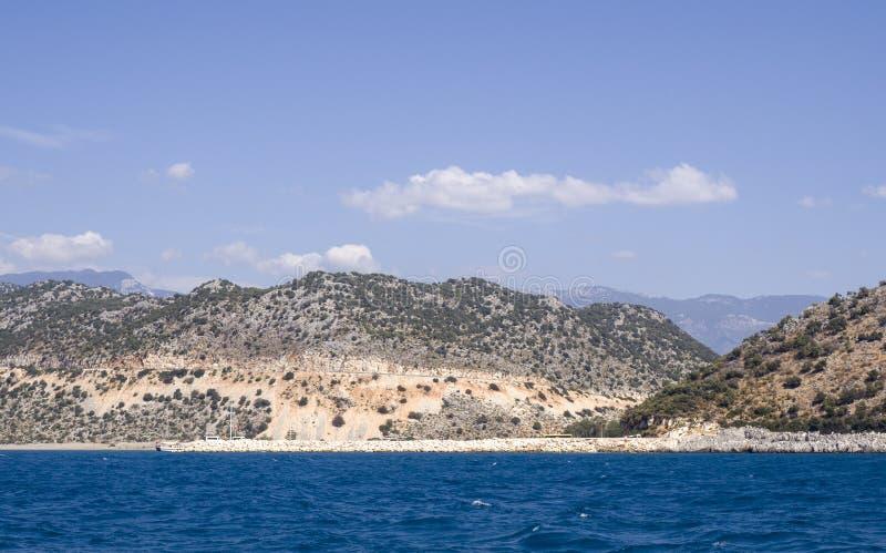 Belle vue sur la Riviera turque photos libres de droits