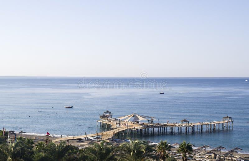 Belle vue sur la Riviera turque image libre de droits