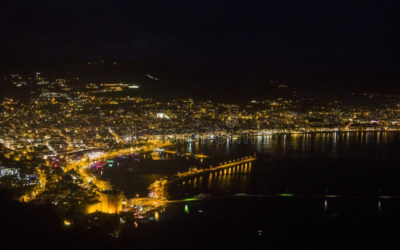 Belle vue sur la Riviera turque images stock