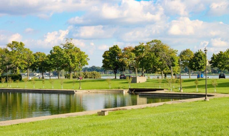 Belle wyspy park, Detroit fotografia royalty free