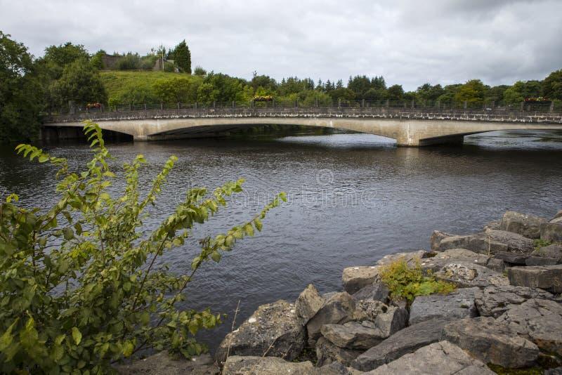 Belleek Bridge Linking Northern Ireland and the Republic of Ireland stock photo