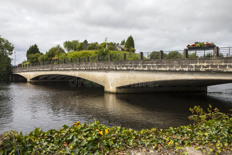 Belleek Bridge Linking Northern Ireland and the Republic of Ireland royalty free stock images