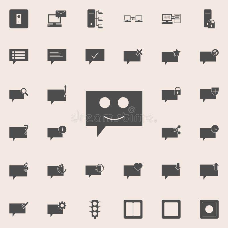 bellen die met een glimlachpictogram communiceren Gedetailleerde reeks minimalistic pictogrammen Grafisch het ontwerpteken van de royalty-vrije illustratie