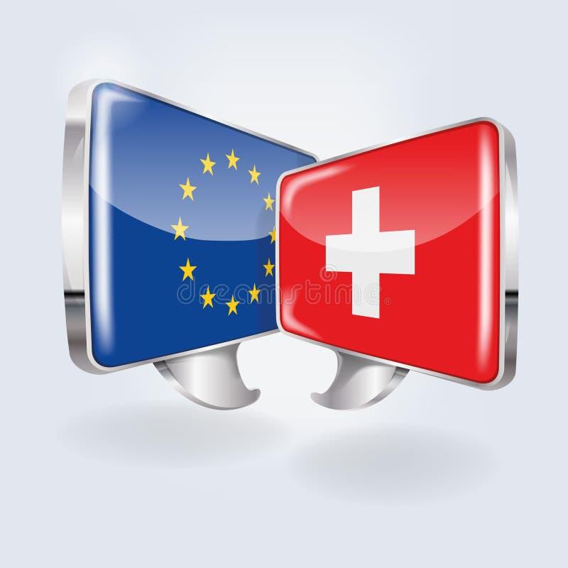 Bellen met Europa en Zwitserland royalty-vrije illustratie