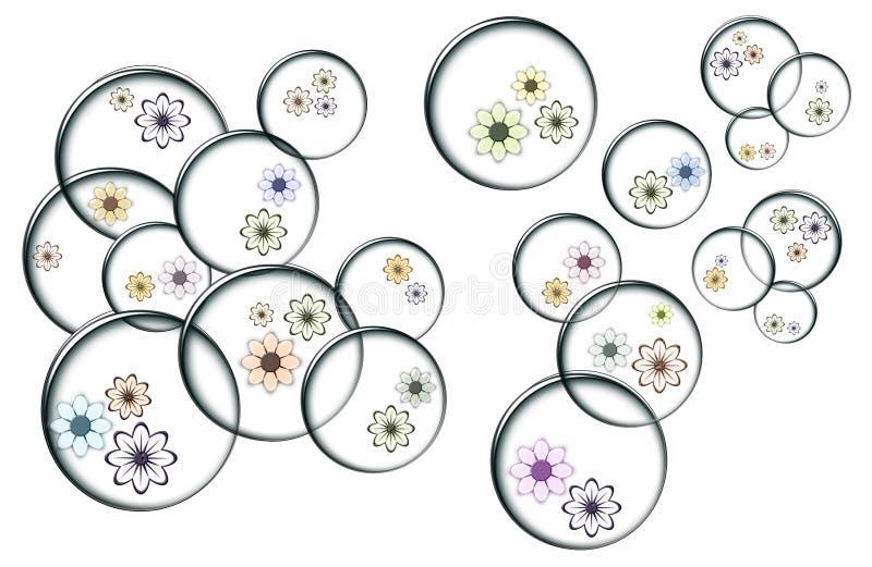 Bellen met kleurenbloemen royalty-vrije stock foto