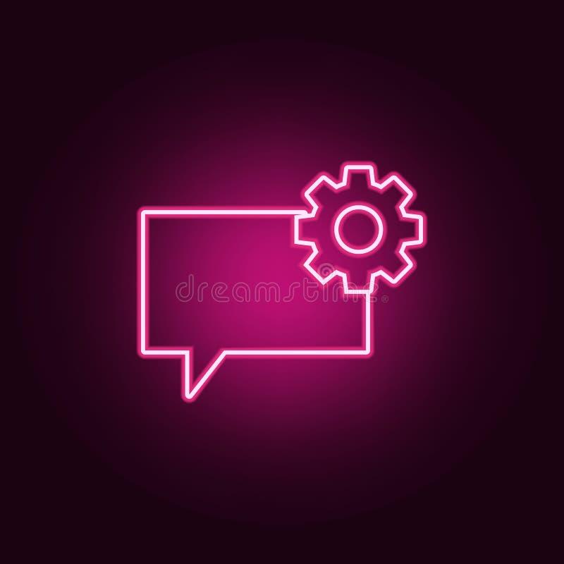 bellen van communicatie met het teken van het toestelpictogram Elementen van Web in de pictogrammen van de neonstijl Eenvoudig pi royalty-vrije illustratie