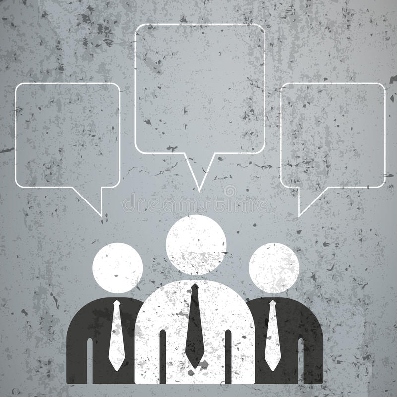3 Bellen van de zakenlieden de Vierkantige Toespraak stock illustratie