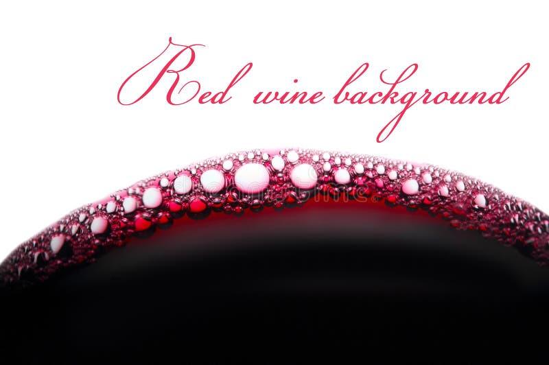 Bellen van rode wijn stock afbeelding
