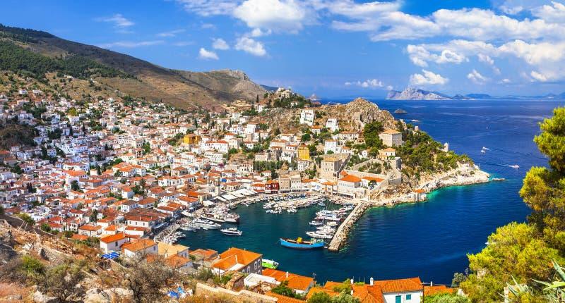 belles îles grecques - hydre image libre de droits