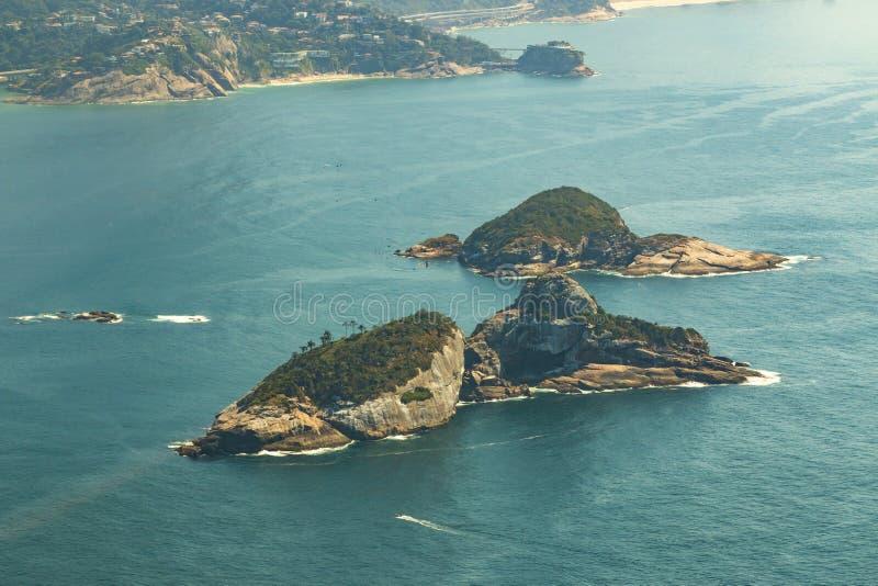 Belles îles, îles Rio de Janeiro Brazil de Cagarras images libres de droits