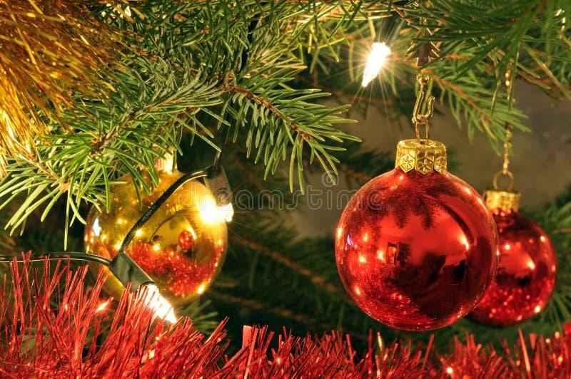 Belles babioles de Noël photographie stock libre de droits