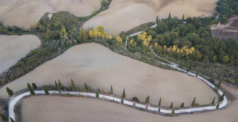 Belles collines de paysage a?rien de nature photos libres de droits