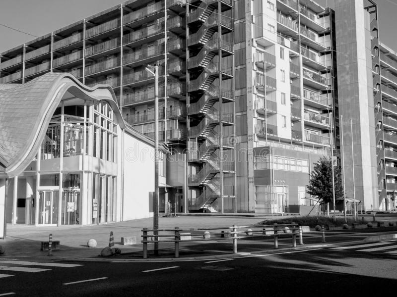 Belles constructions modernes images stock