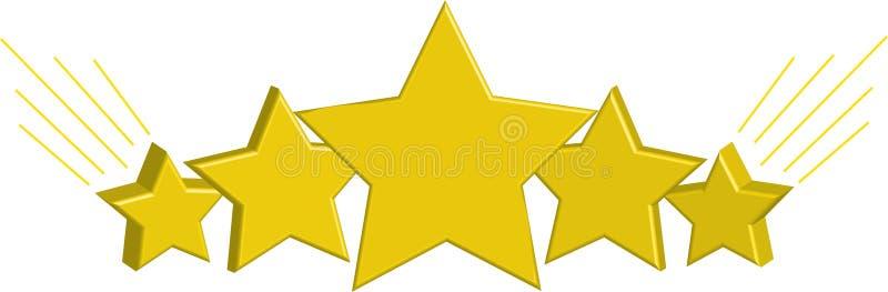 Belles, d'or étoiles photographie stock libre de droits