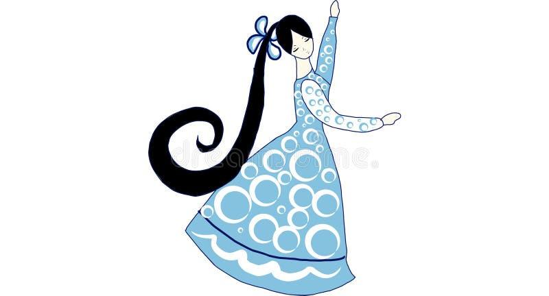 Belles danses de poupée illustration stock