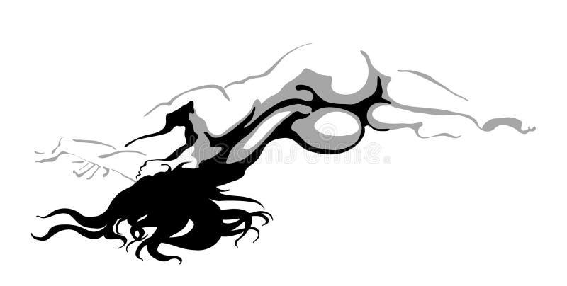 Belles femmes nues illustration de vecteur Image du