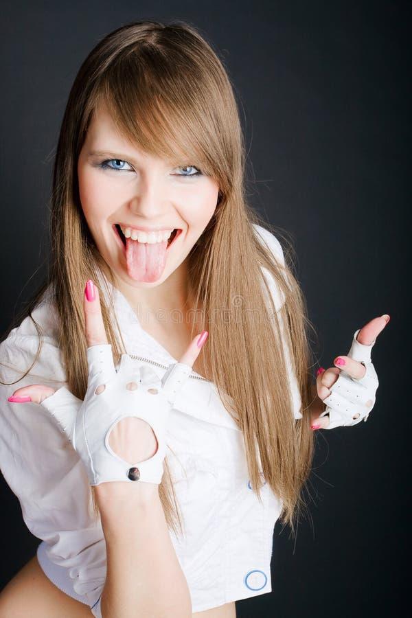 Belles femmes riantes images stock