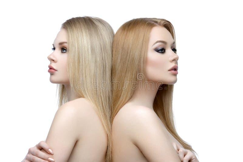 Belles filles avec le maquillage photos libres de droits