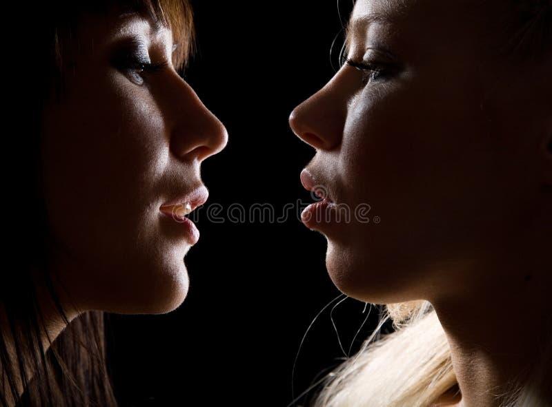 belles filles deux photo stock