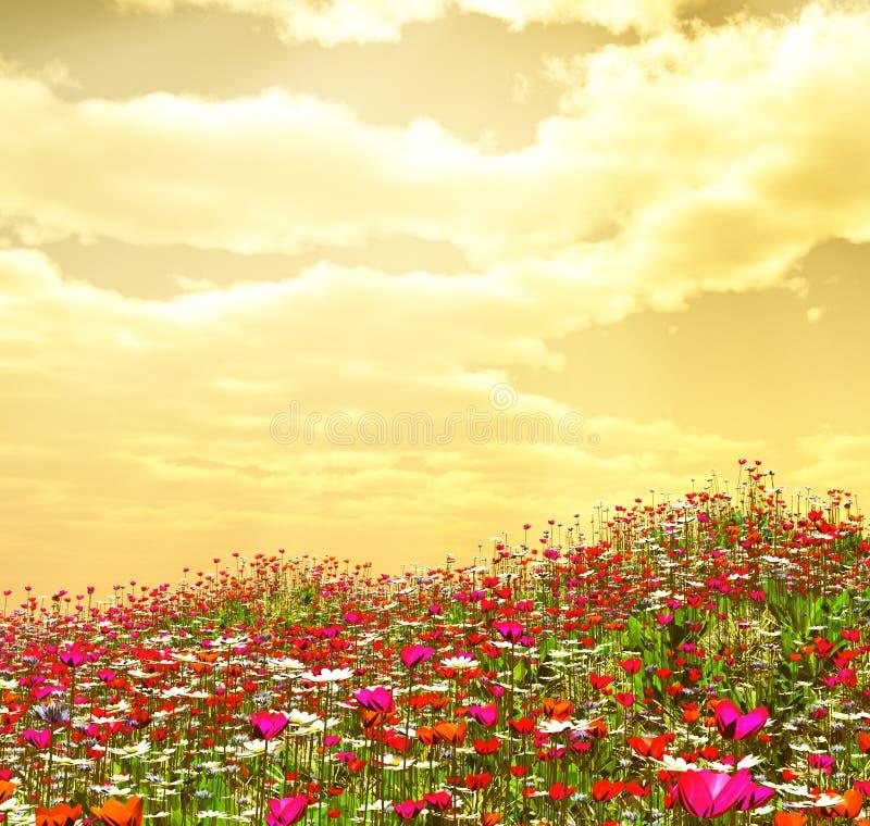 Belles fleurs illustration de vecteur