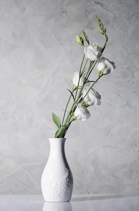 Belles fleurs dans le vase blanc images libres de droits