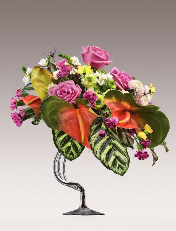 belles fleurs de groupe photo stock