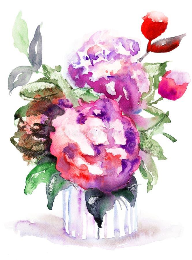 Belles Fleurs De Pivoines Images libres de droits