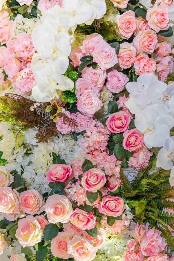 Belles fleurs pour des valentines et la scène de mariage photos libres de droits