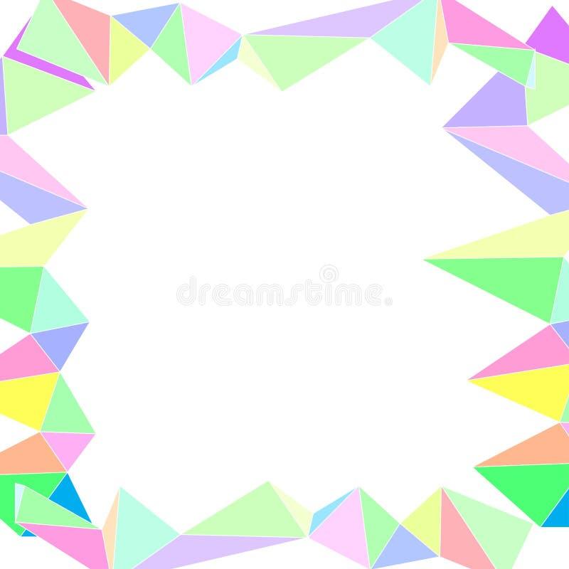 Belles illustrations de modèle de polygones d'art abstrait de fond illustration stock