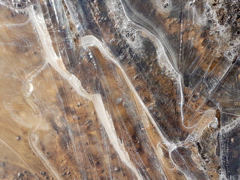 Belles images de glace, de l'eau et de terre en Cañadas del Teide 8 photo libre de droits