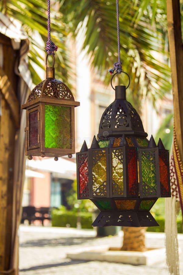 Belles lampes colorées photographie stock