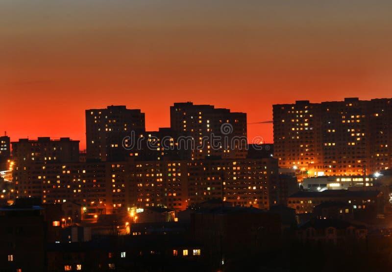 Belles lumières de ville images stock