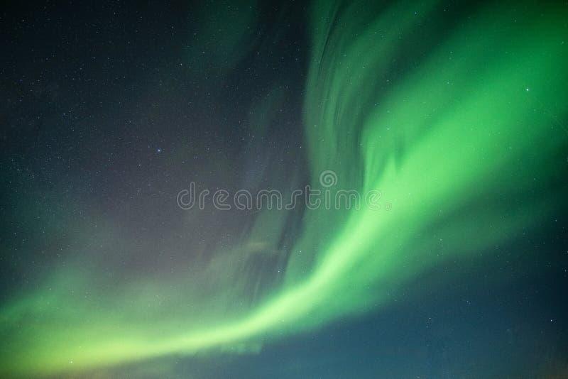 Belles lumières du nord, aurora borealis dansant sur le ciel nocturne photo libre de droits