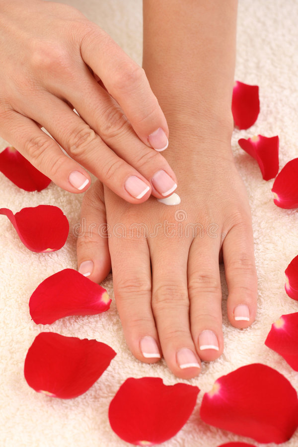 Belles mains image stock