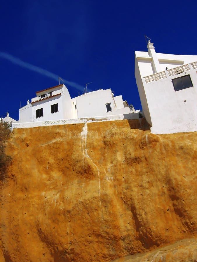 Belles maisons, Albufeira, Portugal image libre de droits