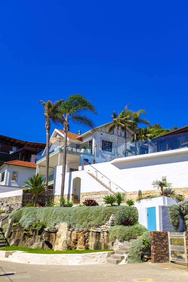 Belles maisons côtières dans viril photos libres de droits