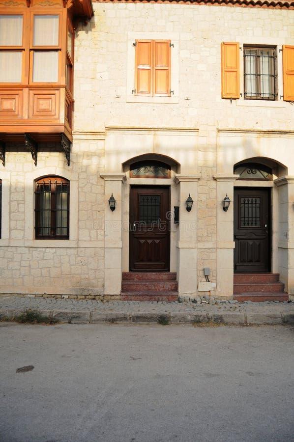 Belles maisons d'Alacati photographie stock