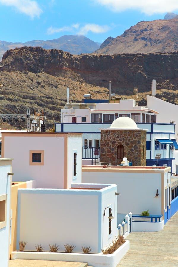 Belles maisons dans le canari grand. images libres de droits