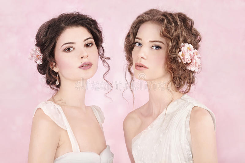 Belles mariées photographie stock libre de droits