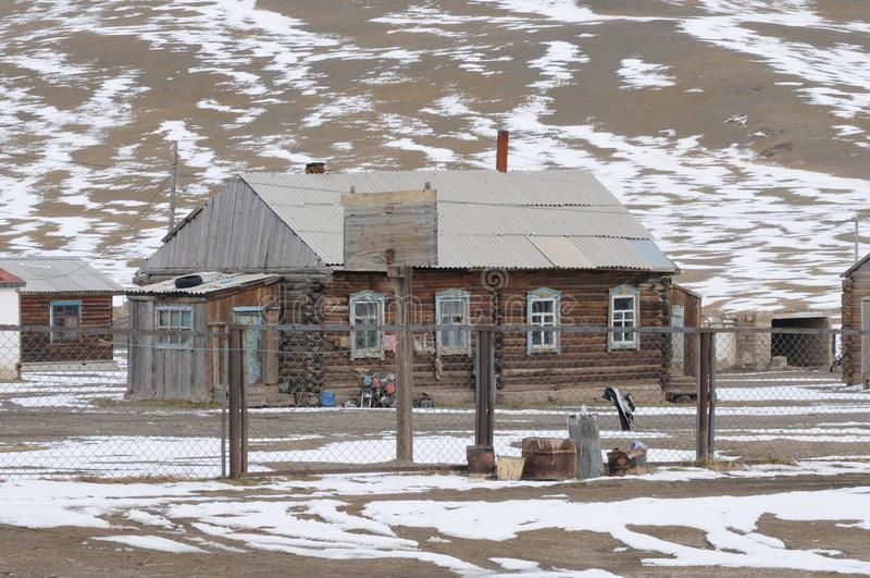 Belles montagnes d'altai en hiver Sibérie photo libre de droits