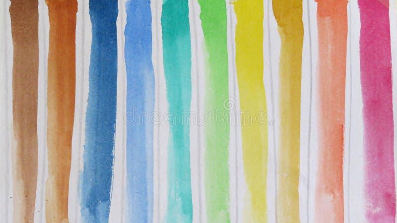 Belles nuances des aquarelles illustration libre de droits