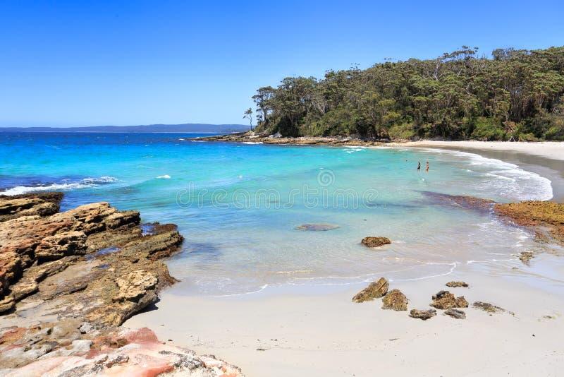 Belles plages de plage de Blenheim d'Australie images libres de droits