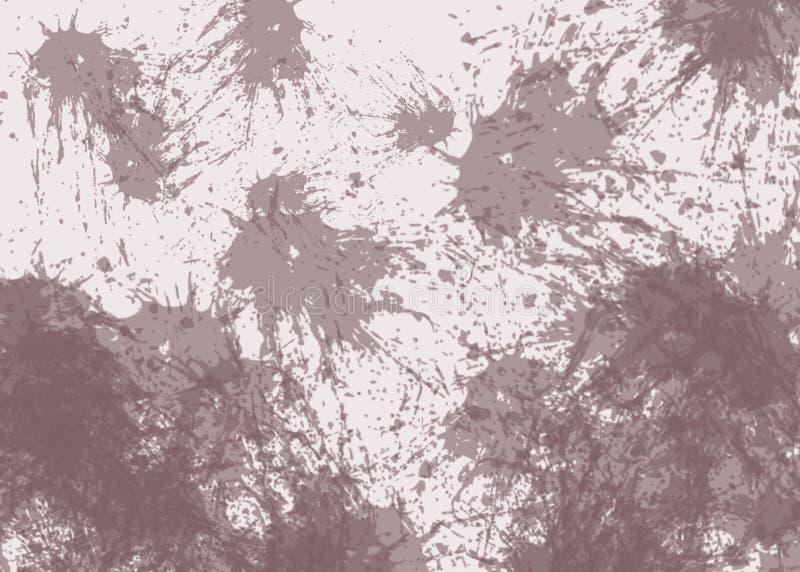 Belles taches brunes de BLOB de résumé sur le fond beige illustration stock