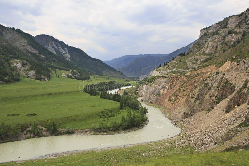 Belles vues de rivière Chuya près de Chuysky Trakt photos libres de droits